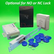 DIY 125khz Rfid waterproof Door Access Control Kit Set with yli Long type No or Nc Electric Strike Lock System