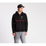 Nike Sportswear Swoosh Fullzip BB Hoodie Black/ University Red/ White