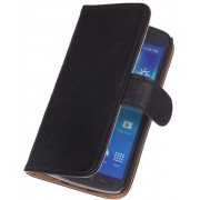 BestCases Zwart Kreukelleer Flipcase Nokia Lumia 800