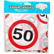 Tafelkleed 50 jaar verkeersbord
