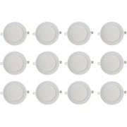 Bene LED 12w Round Slim Panel Ceiling Light Color of LED White (Pack of 12 Pcs)