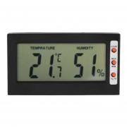 EH LCD Digital Termómetro Higrómetro Max Min Memoria Celsius Fahrenheit (Negro)
