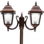LIBERTI LAMP linea GARDEN Athena Lampione Palo 2 Luci Illuminazione Classica Esterno