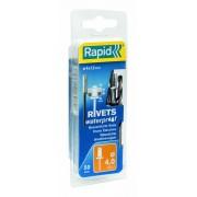 Popnituri Rapid etansare diametrul de 4 mm x 12 mm aluminiu burghiu inclus 50 buc blister