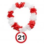 Geen 21 Jaar verkeersbord bloemenslinger