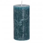Dille&Kamille Bougie bloc, bleu/vert, 6 x 12 cm