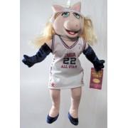 """16"""" Nba All Star Miss Piggy Plush Doll ~ Muppet Show"""