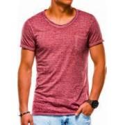 Tricou barbati S1051 - rosu-inchis Marime XL