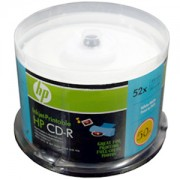 CD-R HP (Hewlett Pacard) 80min./700mb. 52X - 50 бр. в шпиндел (Printable)