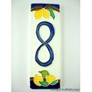 Numero civico ceramica con limoni nl8