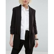 ASOS Mix & Match Blazer with Rouched Sleeve - Black