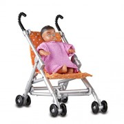 Lundby Smaland Pushchair & Baby
