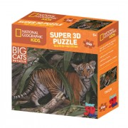 National Geographic Kids 3D puzzle tigar 150 kom