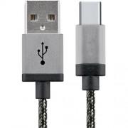 Cablu Date USB La Type C 2M Aluminiu Alb Negru STAR