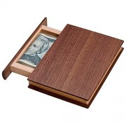 Bits and Pieces - Mini Book Money Box Brainteaser Puzzle - Wooden Brain Game for Adults - Gift Box