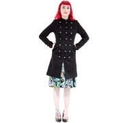 manteau pour femmes printemps-automne HEARTS AND ROSES - Balmain Military - 1015