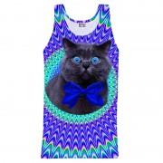 Mr. Gugu & Miss Go Crazy Cat Tank Top T Shirt TT012