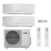 Daikin Climatizzatore Dual Emura 2mxs40h + Ftxg25lw-W + Ftxg35lw-W 9+12 Wi-Fi + Omaggio Staffa