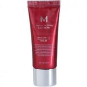 Missha M Perfect Cover ВВ крем с висока UV защита малка опаковка цвят No. 21 Light Beige SPF 42/PA+++ 20 мл.