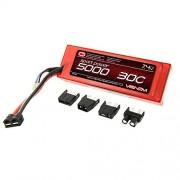 Venom Sport Power 30C 2S 5000mAh 7.4V LiPo Battery ROAR Approved with Universal Plug (EC3/Deans/Traxxas/Tamiya)