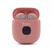Oneder W16 Noise Cancelling Wireless Headphones LED Display Bluetooth Headsets - Pink