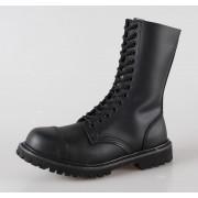 cipő bőr 14 lyukú Brandit - Phantom Black - 9003/2