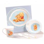 Kraamkado blauw Winnie de Pooh servies