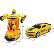 Battery Operated Centre Robot To Car Converting Transformer Toy For Kids