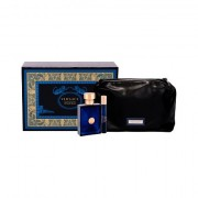 Versace Pour Homme Dylan Blue confezione regalo eau de toilette 100 ml + eau de toilette 10 ml + trousse Uomo