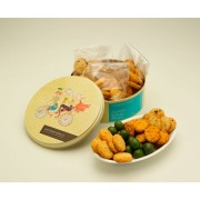 Christmas Assorted Biscuits ROUND Tin - Savoury 420g