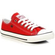 Big Star Czerwone tenisówki półtrampki męskie BIG STAR T174100 - czerwony