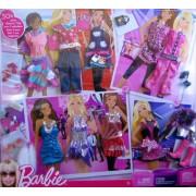 Mattel Barbie Fashion Gift Set - 30+ Fashions and Accessories, Multi Color