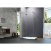 Huppe Design pure zijwand vast 90x200cm chroom look antiplaque gl 8p1102092322