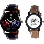 Red-Blue Jaguar And Queen Taj Girls Analogue Watch By SCK