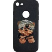 Skin iPhone 7 Lemontti Embroidery Black Puppy