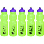 SAS 750ml Water Bottles for Yoga Gyming Fitness Cycling - Green color Set of 5 Keeps water safe and fresh for long