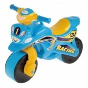 Motocicleta de impins MyKids Racing 0139/1 Albastru/Galben