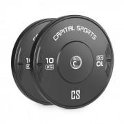 Capital Sports Elongate Bumper Plate Gewichtsplatte Gummi 2x 10kg
