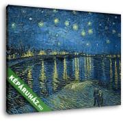 Vincent Van Gogh: Csillagok a Rhone folyó felett (30x25 cm, Vászonkép )