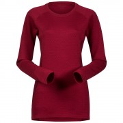 Bluza de corp Bergans Snoull Lady - 100% Merino Wool - Rosu