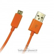 Cable Data + Charge Orange Pour Archos 55 Cobalt Plus