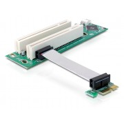 DeLock Riser Card PCI Express x1 > 2x PCI with flexible cable 9 cm left insertion 41341