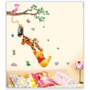 Veselá samolepiace dekorácie na stenu s motívom Macko Pú s priateľmi (AL)