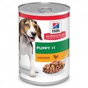 6x370g Puppy <1 Hill's Science Plan frango latas cães