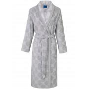 Joop! Le peignoir velours en pur coton, col plat, poches Joop! couleur argent