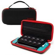 Dobe Nintendo Switch Lite case. Funda Nintendo Switch Lite con bolsa interior para accesorios y con 8 espacios para guardar juegos / cartuchos. Estuche Nintendo Switch para protección y cuidado.