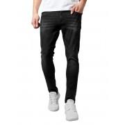 Pantalon pour homme URBAN CLASSICS - Skinny Ripped Stretch Denim - TB1606_black lavé