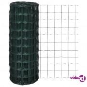 vidaXL Euro ograda 25 x 1,0 m s 100 x 100 mm očicama