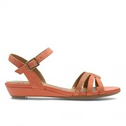 Clarks Women's Bianca Crown Brown Leather Fashion Sandals - 4 UK/India (37 EU)