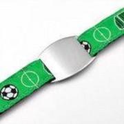 SOS-ID (kinder)armband - Voetbal Print